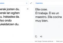 Google Translaten algoritmoa ere sexista da